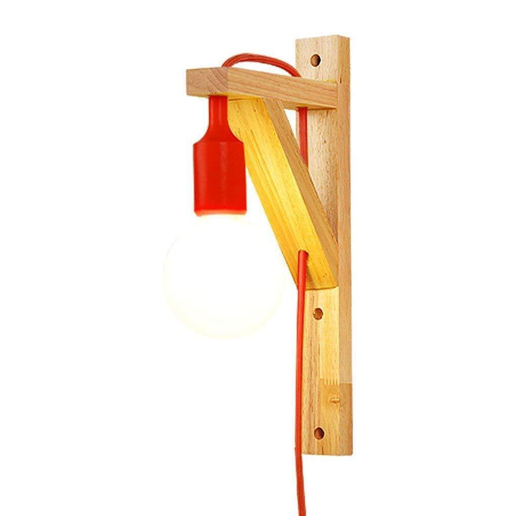 Ououy ウォールランプウォールランプブラケットランプ寝室のベッドサイドランプ無垢ランプ廊下階段用(色:赤) 品質保証 B07S3VQ6J9