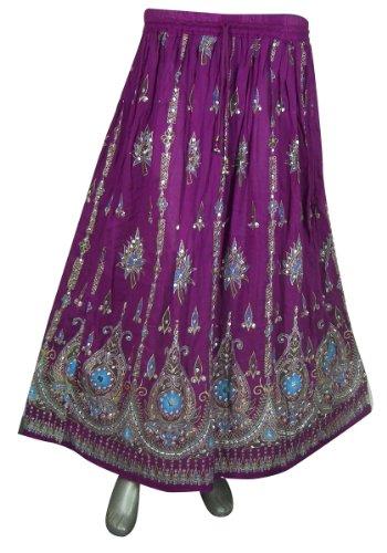 Designer Women Skirt (Womens Rayon Skirt Designer Spring Summer India Clothing (Magenta1))