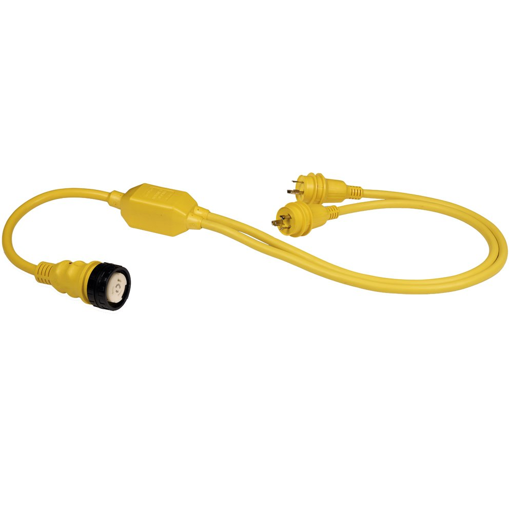 MARINCO RY504-2-30 / Marinco RY504-2-30 50A Female to 2-30A Male Reverse ''Y'' Cable