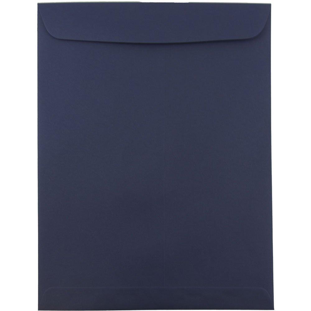 JAM PAPER 10 x 13 Open End Catalog Premium Envelopes - Navy Blue - 10/Pack