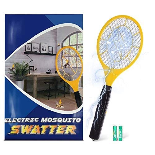Bug zapper- Electric Fly Swatter ,handheld Insect Fly Killer, Mosquito Zapper against Flies,Bugs,Bees and Other Pest,Unique 3-Layer Safety Mesh Safe to Touch for Indoor and Outdoor Pest Control by Henscoqi