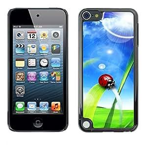 LECELL -- Funda protectora / Cubierta / Piel For Apple iPod Touch 5 -- Ladybug Sun --