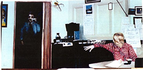(W KLEMM, Original Oil Painting, GARDEN SPIDER STALKING A SLICE OF LIFE, Walter)