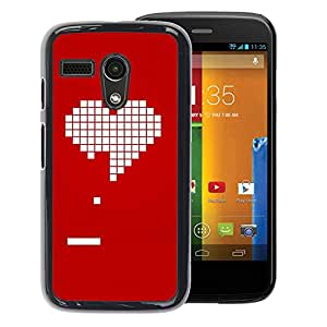Planetar® ( Pc Game Gamer Girlfriend Love Valentines ) Motorola G1 / X1032 Fundas Cover Cubre Hard Case Cover