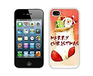 Special Custom Made Diy For Iphone 4/4s Case Cover Protective Skin Case Merry Christmas White Diy For Iphone 4/4s Case Cover Case 28