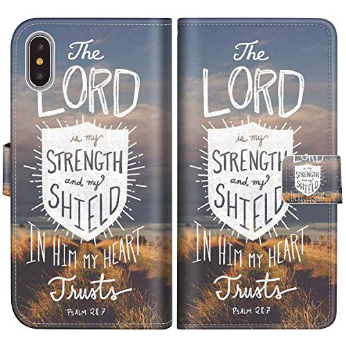 (Sakuulo Flip Wallet Case for iPhone Xs Bible Verse PU Leather Case with Multi Credit Card Holders ID Slot Pockets Folio Magnetic Closure Cover for Apple iPhone)