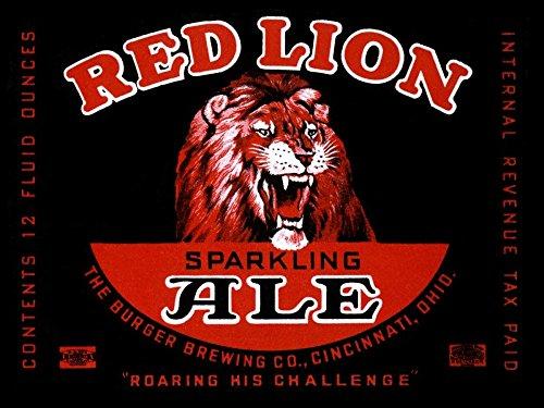 Red Lion Ale by Vintage Booze Labels 17