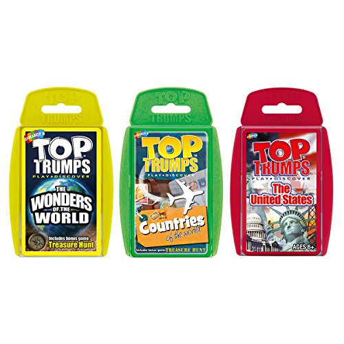 Top Trumps Explore Our World Card Game Bundle