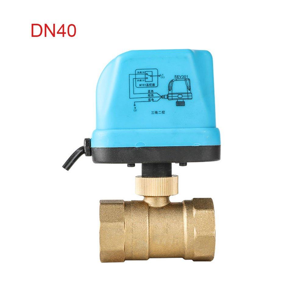 V/álvula de Bola el/éctrica lat/ón, 2 v/ías, Resistente al Agua, Tipo de Interruptor Alftek DN25