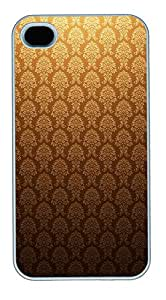 iPhone 4 4s Cases & Covers - Golden Vintage Custom PC Soft Case Cover Protector for iPhone 4 4s - White