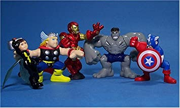 Hasbro Marvel Superhero Squad Exclusive Avengers Face-Off 5-Pack ...