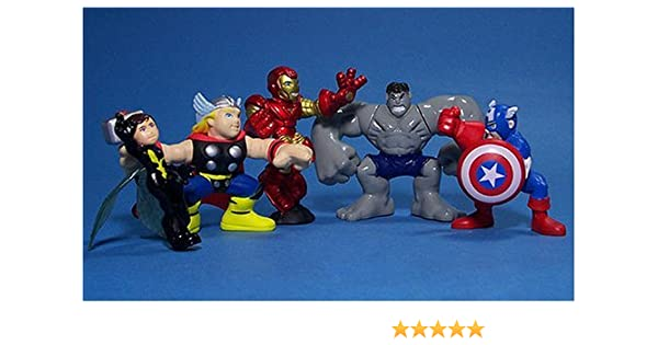 Hasbro Marvel Superhero Squad Exclusive Avengers Face-Off 5-Pack (Hulk, Iron Man, ca... by: Amazon.es: Juguetes y juegos