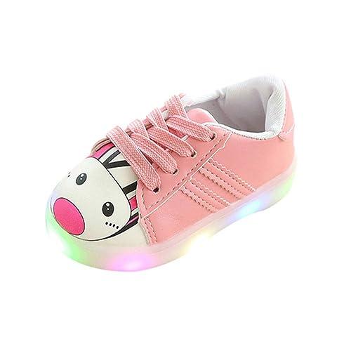 K-youth Zapatillas Niños LED Luz Fashion Sneakers Luminous Chica Chico Casual Dibujos Animados Zapatillas