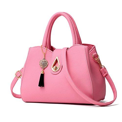 à YUHEQI Luxe à Sac Style Bandoulière Pink Main Fourre tout Sac élégant Womens WHrqnwHS