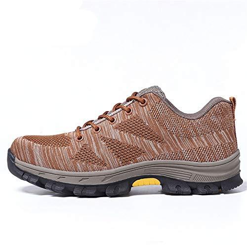 De Las Marrón Hombres Ywqwdae Golpes A Contra Eu Perforaciones Seguridad 44 Respirables Tamaño Los color Puncut Marrón Resistentes Zapatos Piercing qwwYHXz