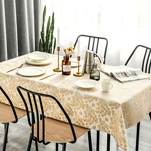 Musiox Rural Light Luxury Satin Jacquard Table Cloth Art Waterproof Anti-hot Tablecloth Tablecloth Table Cloth