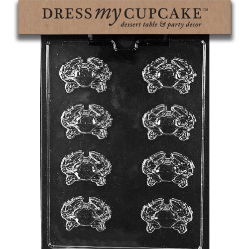 Dress My Cupcake Chocolate Candy Mold, Crab Pieces, Nautical