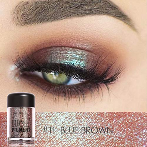 (Glitter Shimmer Makeup Glitters Eyes Body 18 Colors Shiny Pigment Powder Lips Loose Make Up Colors)