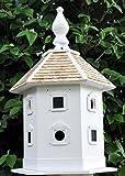 30'' Fully Functional Oversized Elaborate White Bird Dovecote