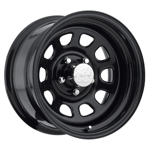 (Pro Comp Steel Wheels 51-5862 Rock Crawler Series 51 Black Wheel Size 15x8 Bolt Pattern 5x4.75 Offset 0 Back Spacing 4.5 in. Gloss Black Rock Crawler Series 51 Black Wheel)