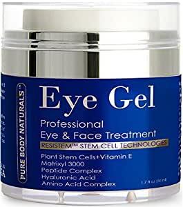 Pure Body Naturals Eye Gel Treatment, for Dark Circles, 1.7 Fluid Ounce