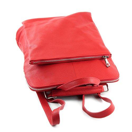 3in1 Rosso In T141 Citybag Zaino Pelle 1q84wqv