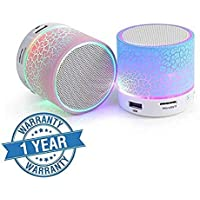 esportic Wireless LED Bluetooth Speakers S10 Handsfree with Calling Functions and FM Radio for All Android and iPhone Smartphones (Assorted Colour)