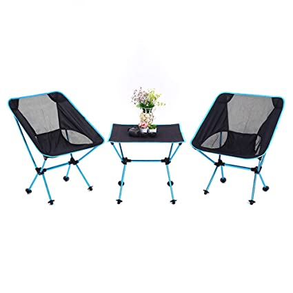 silla de camping portátil [2 Sillas + 1 Mesa] Juego de mesa ...