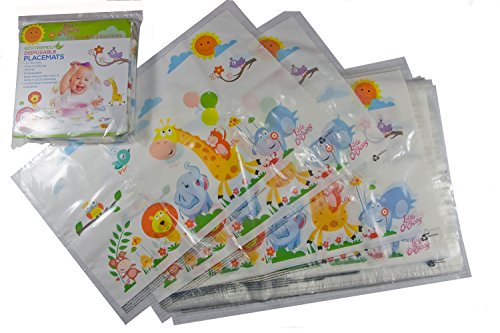 Safari Disposable Placemats For Table Top 60 Mats For