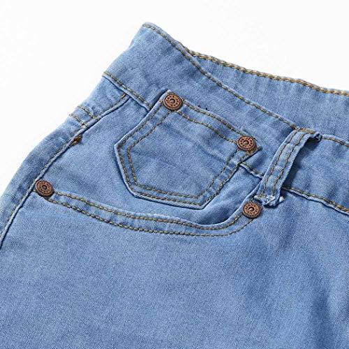 Skinny Bleu Bovake Taille Unie Crayon Couleur Grande Zipper Homme Jeans Pantalon Pantalons nx7RwqH61