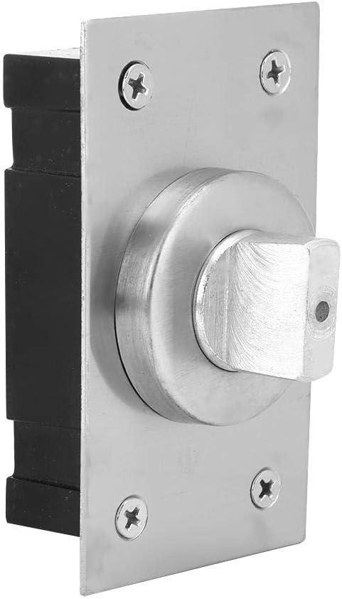 Jeffergarden Bisagra de Puerta pivotante Eje de Puerta giratoria de 360 ° Muebles de Metal Giratorio Hardware Panel Accesorios de Puerta giratoria Acabado Cepillado