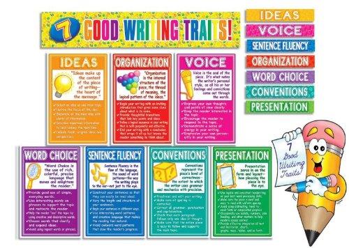 SHS0439492262 - Scholastic 7 Good Writing Traits Bulletin Board Set