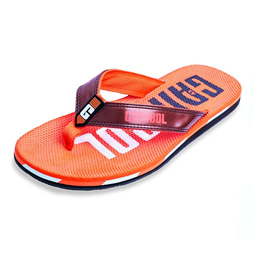 Gambol Mens Sandals Shoes - Zapp Style Orange