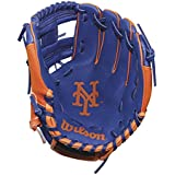 """Wilson A200 Youth MLB 10"""" Tee Ball Glove in Team Logo Designs, All Positions and Perfect for Beginners"""