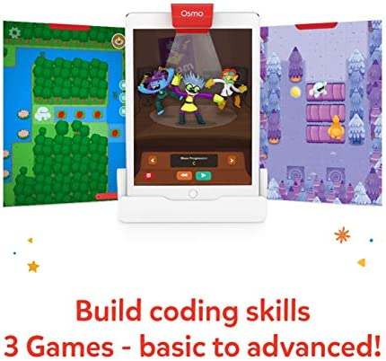 Osmo - Coding Family Bundle For IPad & Fire Tablet - 3 Educational Learning Games - Ages 5-10+ - Coding Jam, Coding Awbie, Coding Duo - STEM Toy Base Required