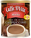 Caffe D'vita Mocha Cappuccino, 16-ounce Canisters [Pack of 3]