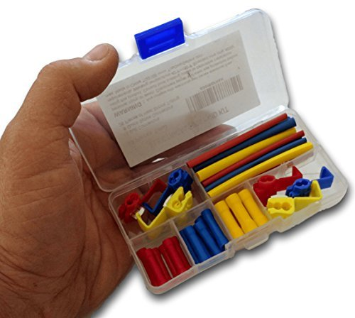 Wiring First Aid Connector Kit, 50Pcs with Case | Best for Electrical, Marine & Automotive wire. 24 Connectors w/ BONUS 26 Assorted Heat Shrink Tubing.