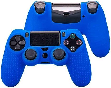 OcioDual Funda de Silicona Carcasa para Mando Sony PS4 PlayStation 4 Slim Pro Dualshock 4 Antideslizante Azul: Amazon.es: Videojuegos