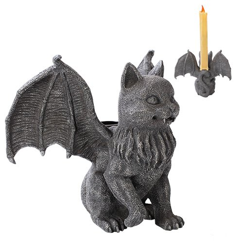- Cat Gargoyle Candle Holder Home Decor Statue Made of Polyresin