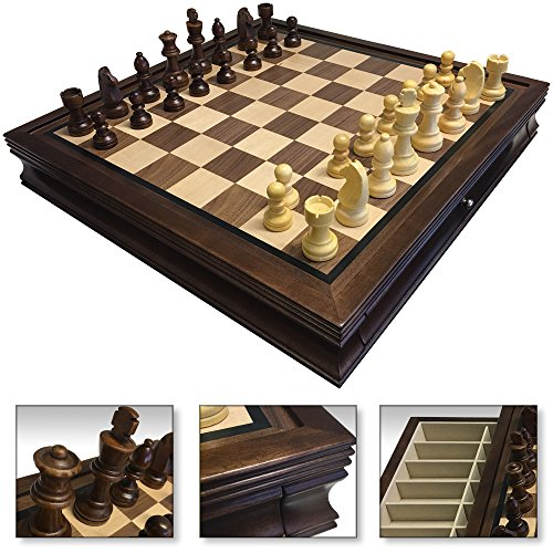 Wood Chess Board Deluxe - 19