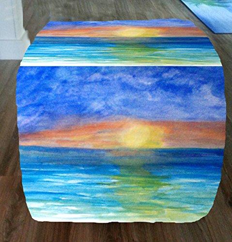 Ocean-Sunset-Beach-Coastal-Ottomans-From-My-Art