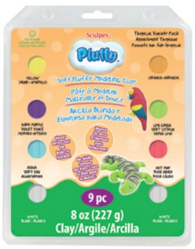 Polyform Sculpey Pluffy Clay Variety Packs, Tropical