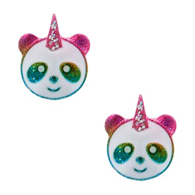 dc4db94b7 Claire's Girl's Rainbow Panda Unicorn Stud Earrings: Claire's:  Amazon.co.uk: Clothing