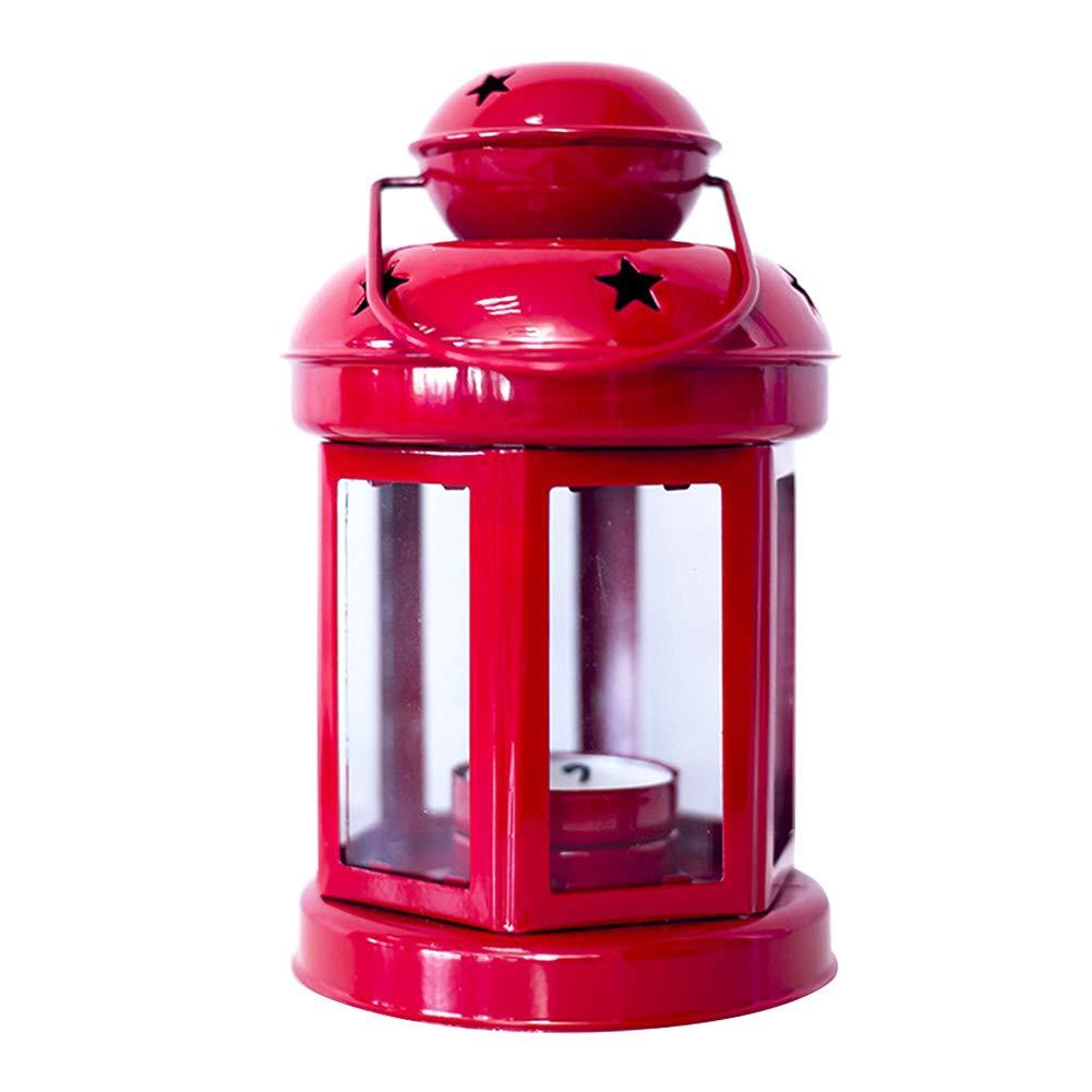 Wicemoon 1 pc Noë l Chandelier Coupe-Vent Pè re Noë l Cerf Bougeoir Dé coration De Noë l Accessoire(Rouge) 0K4EVZN1410Q3CWV10M18M9KW