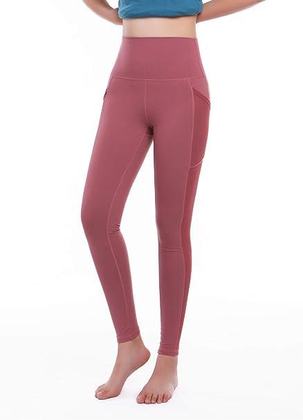 Amazon.com: M.O.N.G - Mallas deportivas para mujer, cintura ...