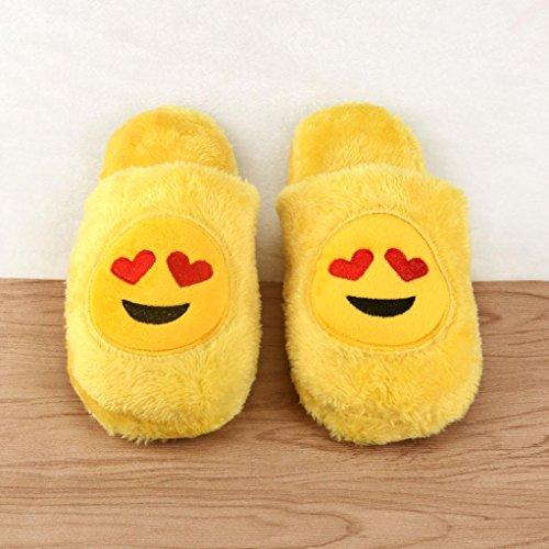 Sagton Unisex Emoji Leuke Cartoon Pantoffels Warm Gezellig Zacht Gevuld Huishoudelijk Indoor Schoenen D