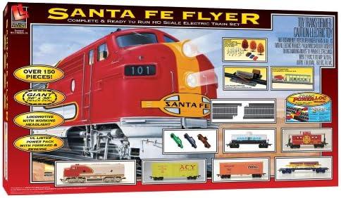 Amazon com: Life-Like Trains HO Scale Santa Fe Flyer Electric Train