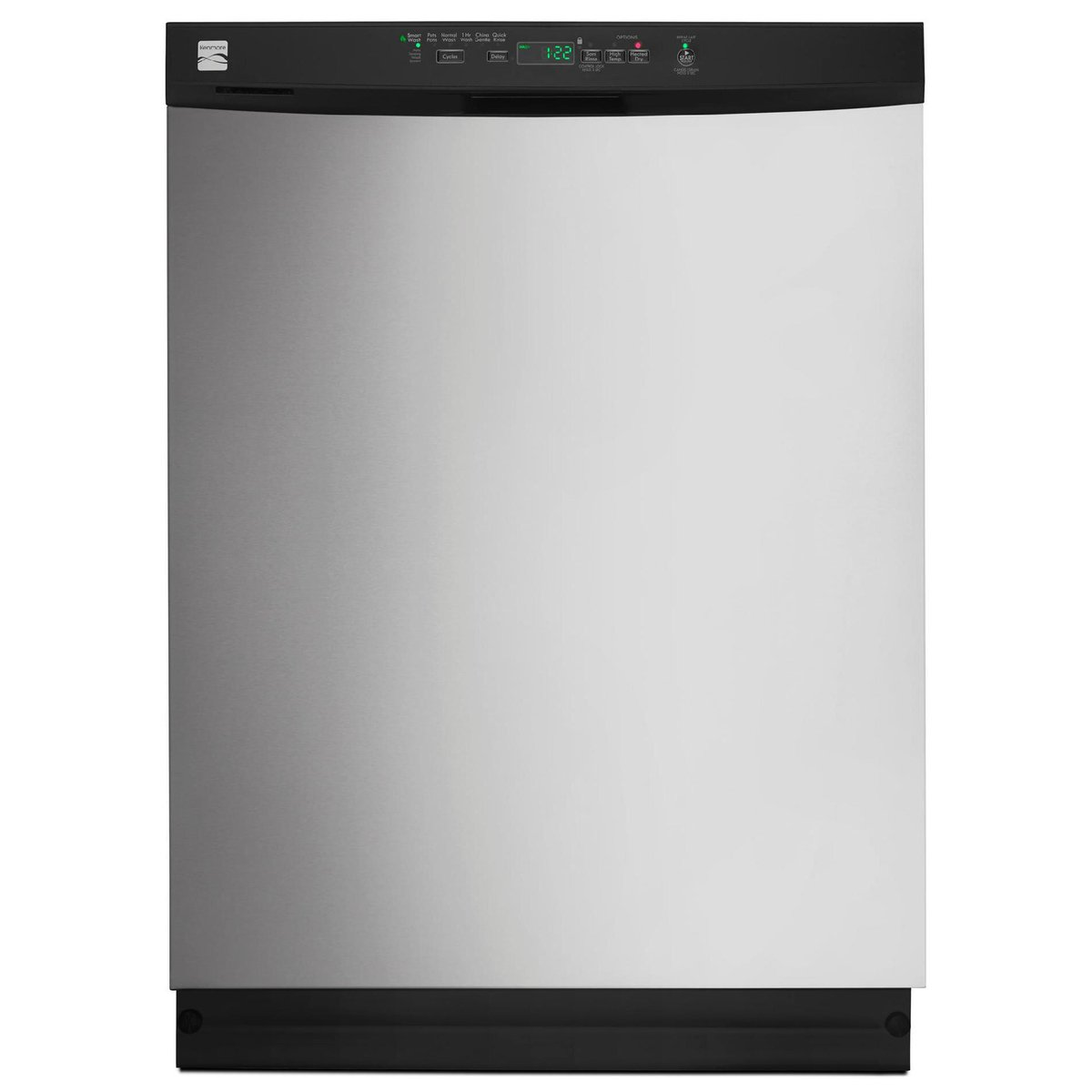 "Kenmore 13093 24"" Built-In Dishwasher with Power Wave Spray Arm, Stainless Steel"