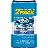 Gillette Deodorant Twin Pack Cool Wave 2.85 Ounce Clear Gel (84ml) (3 Pack)