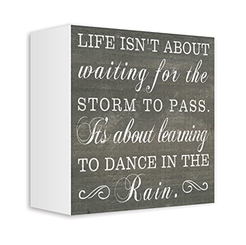 ReLive Decorative Expressions Painted Wooden Signs (Dance in the Rain, 5x5)